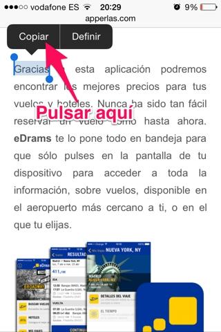 copiar y pegar en iPhone 2