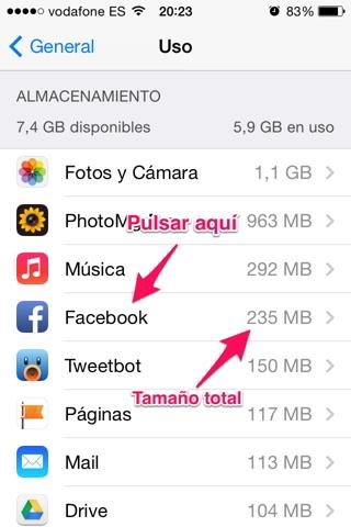 Eliminar una app 3