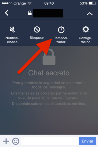 Chat secreto para iPhone