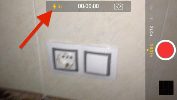 Hacer fotos con flash encendido