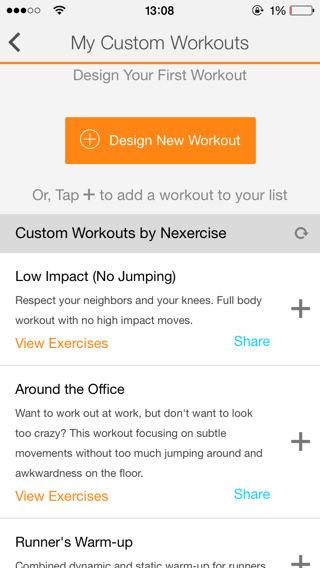 Vídeos de ejercicios en iPhone