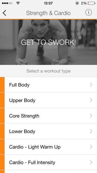 APP Sworkit PRO Vídeos de ejercicios