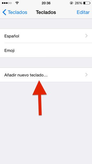 Teclados nuevos iOS 8 iPhone