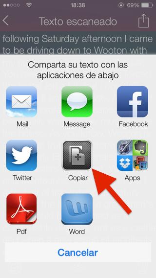 Traducir textos con iPad