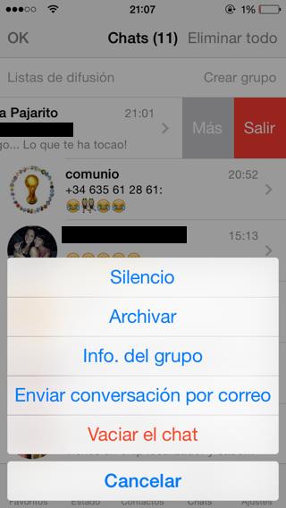 Actualización de Whatsapp 2.11.9