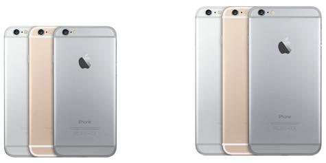 iPhone 6 y iPhone 6 PLUS colores