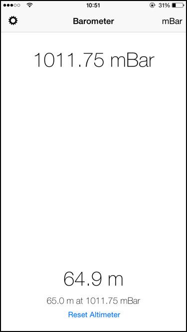 Barómetro para iPhone 6, iphone 6 PLUS y iPad AIR 2