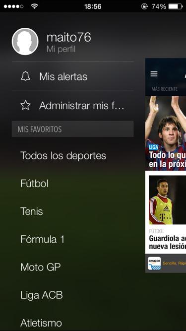 App Eurosport 5.0 iPad