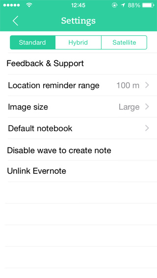notas por ubicación en iPhone