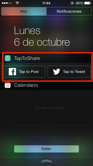 compartir en twitter y facebook en iPhone