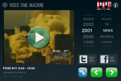 Imágenes históricas app Video Time Machine