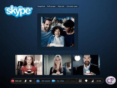 llamadas grupales en Skype