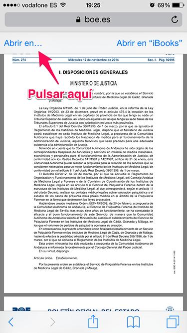 PDF desde Safari 1