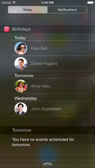 Birthdays Widget para iPhone