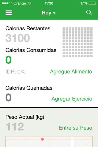 Contador de calorías para iPhone