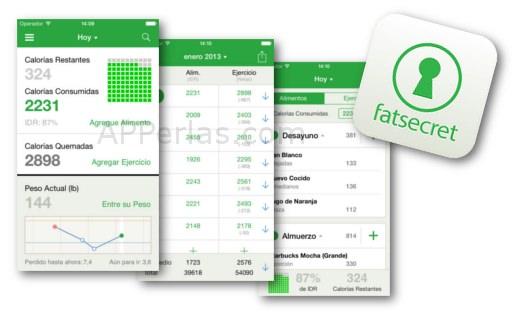 Contador de calorías FatSecret