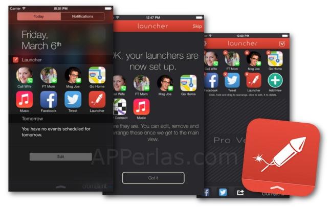 Accesos directos con la app Launcher