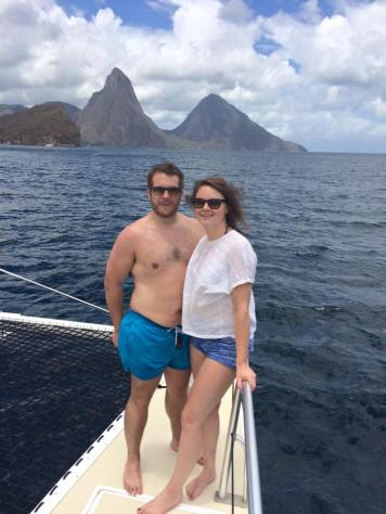 Boating around St Lucia