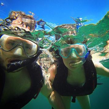 Snorkelling near Marigot Bay