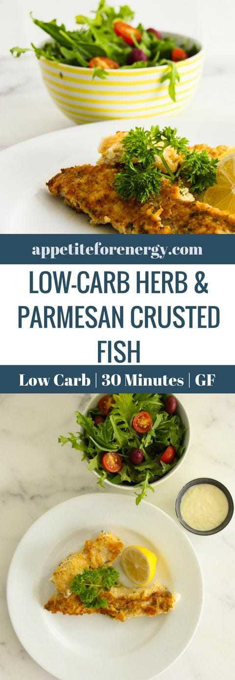 30 Minute Low Carb Herb & Parmesan Crusted Fish