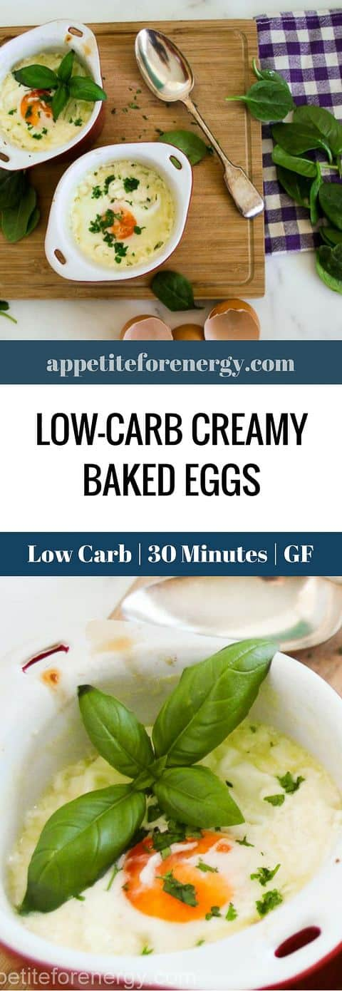 This 30 Minute Low-Carb Creamy Baked Eggs, with only 5 ingredients makes a great breakfast, lunch or dinner! FOLLOW us for more 30 Minute Recipes. PIN & CLICK through to get the recipe! |Low-carb diet |ketogenic diet |keto diet |keto baked eggs| low carb diet egg recipes|gluten free egg recipes|Low carb breakfast recipes|ketogenic egg recipes| #keto #lowcarbrecipes #ketorecipes #lowcarbdiet #lowcarbeggrecipes #bakedeggs