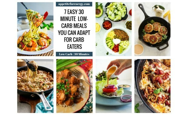 Tired of trying to keep the carb eaters in your home happy, when you follow a low-carb diet? We have you covered with 7, 30 minute meals that can be easily adapted or served to carb eaters. FOLLOW us for more 30 Minute Recipes. PIN & CLICK through to get the recipes! Ketogenic Diet Meal Plan| Keto Diet Recipes| Keto 30 Minute Recipes| Low Carb Family Meals|gluten free recipes|sugar free recipes| #lowcarbdiet #ketodiet #lowcarbmealplan #ketomealplan