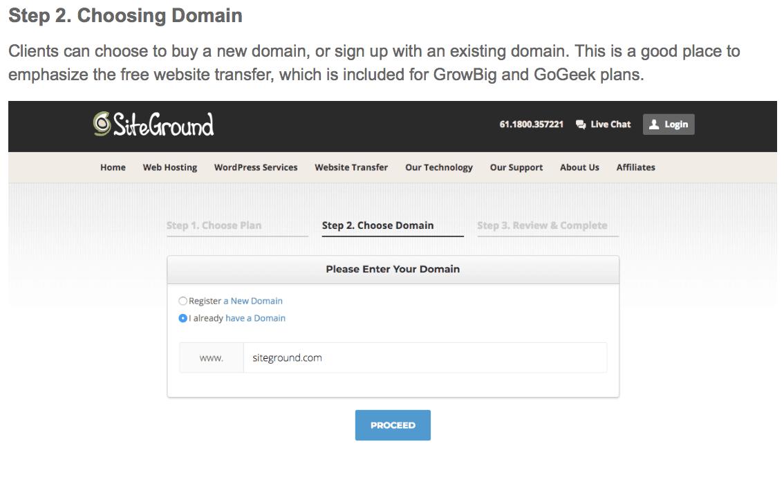 Choose Your Domain - Create a Blog