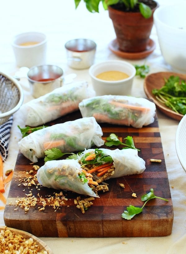Chicken Spring Rolls from Bev Cooks. I love that these use ground chicken! Can't wait to try soon.