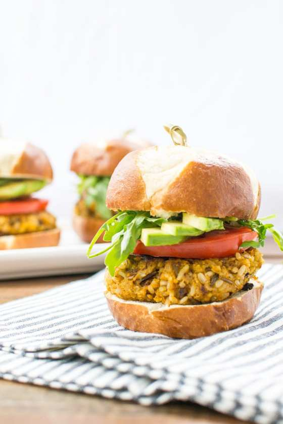 vegan sweet potato rice burgers - Appetites Anonymous