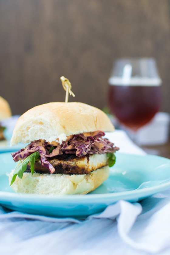 blackened swordfish sandwiches with sriracha mayo slaw | Appetites Anonymous