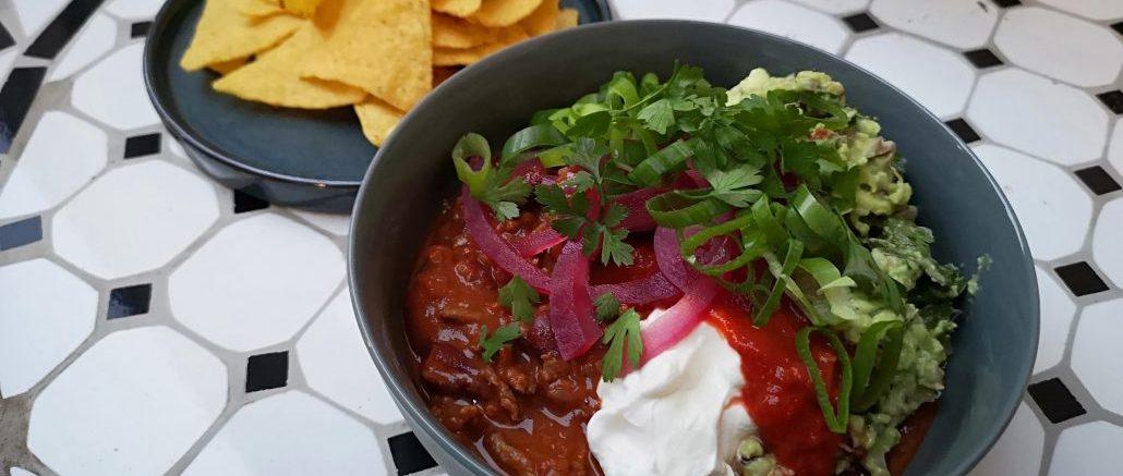 Chili Con Carne med tilbehør