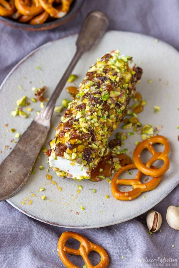 Homemade Honey Pistachio Goat Cheese Log