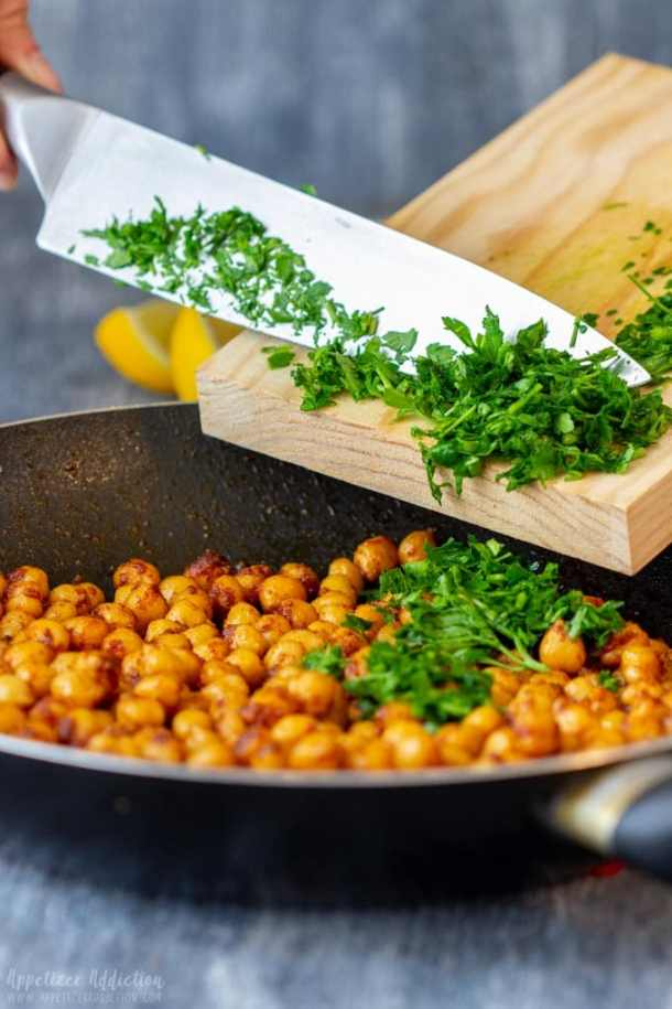 How to make Pan Fried Chickpeas Step 2