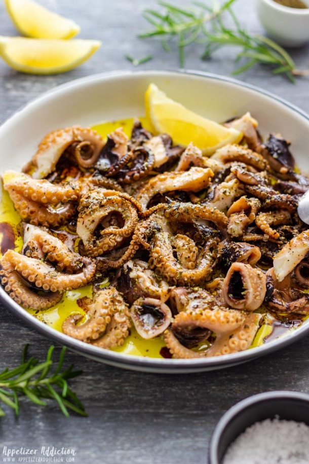 Marinated Tender Baby Octopus