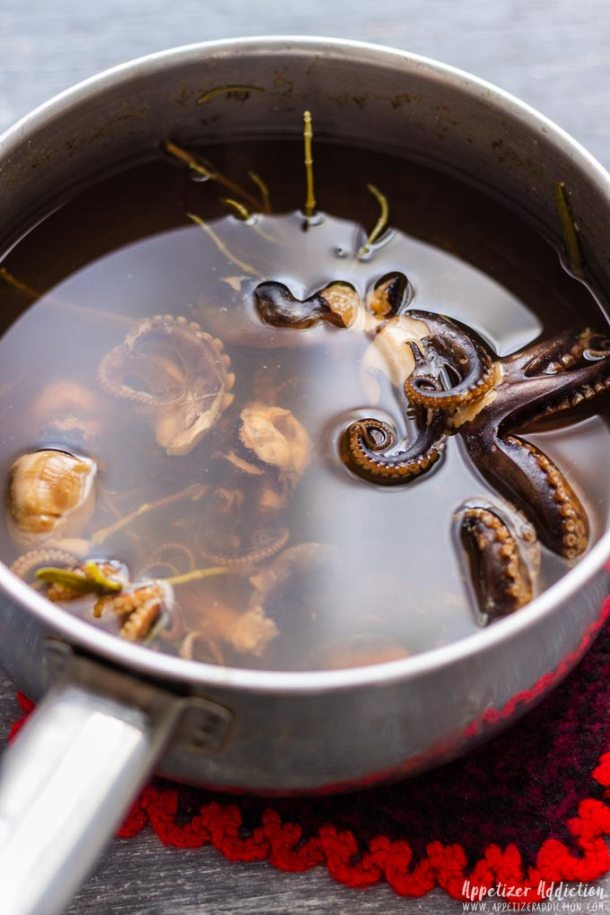 Step by Step How to Make Marinated Baby Octopus 2