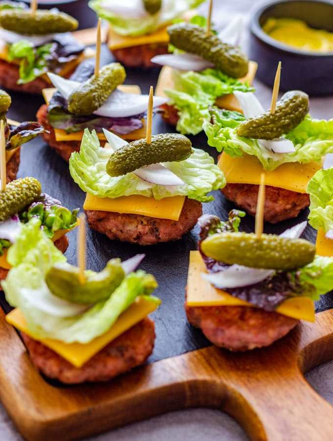 Bunless Cheeseburger Bites