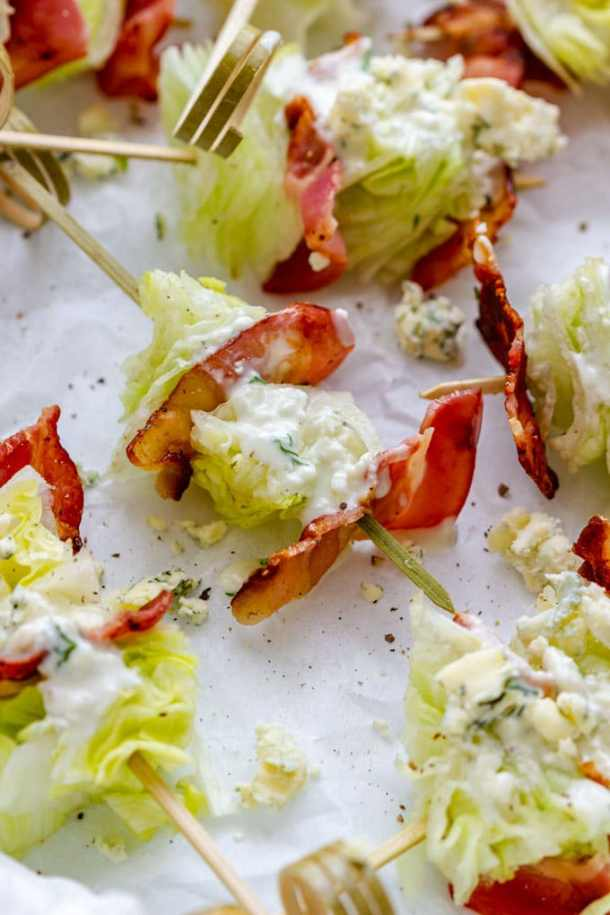 Wedge Salad Sticks with Dressing