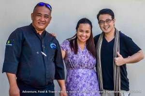 Posing with Costa Pacifica's Manager, Pettina Mae Cruz, and Beach House's Head Chef Romy Aumentado