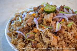 Sisig Fried Rice Php180