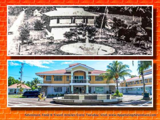 Baler Municipal Hall, then and now. The old 1939 photo's courtesy of Baler Tourism.