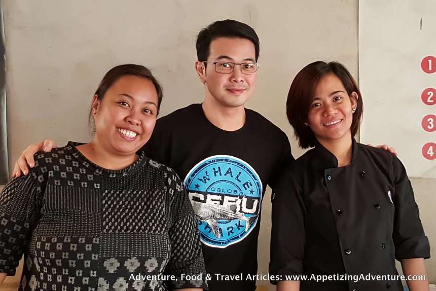 With 8Cuts Manager Ethel Hernandez and Kitchen Manager Doryl Ramos