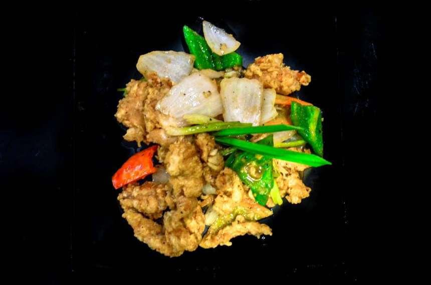 Chicken Prik Thai Dum Php240