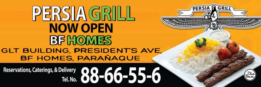 Aside from its Valero, Makati branch... Persia Grill BF Paranaque branch is NOW OPEN