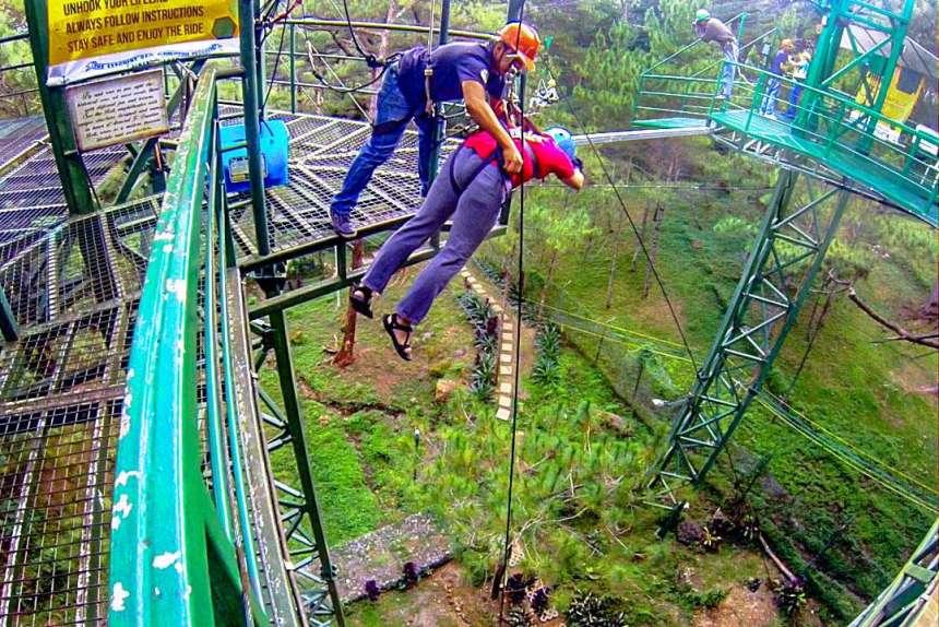 Tree Drop, Tree Top Adventure (Baguio)