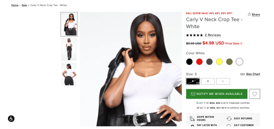 Fashion eCommerce Stores automate back in stock alerts