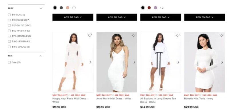 Shopify fashion and apparel stores
