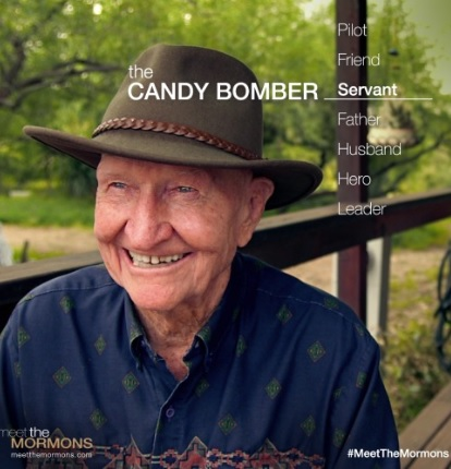 "Hero of the 1940's Berlin airlift, Gail Halverson is now known as the ""Candy Bomber"""