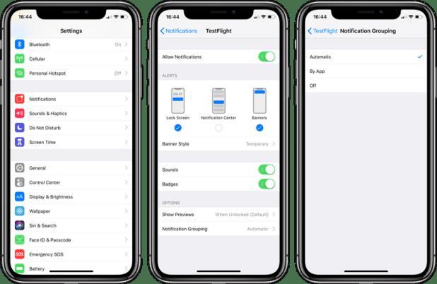 iOS 12 كيفيّة تخصيص الإشعارات المجمعة Grouped Notifications
