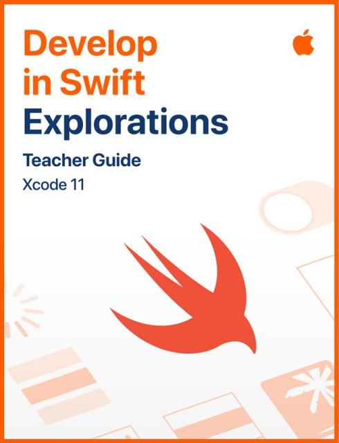 """Immagine della guida per insegnanti """"Develop in Swift Explorations""""."""
