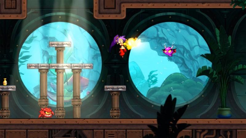 """Captura de pantalla de """"Shantae y las siete sirenas"""" de WayFoward en Apple Arcade."""